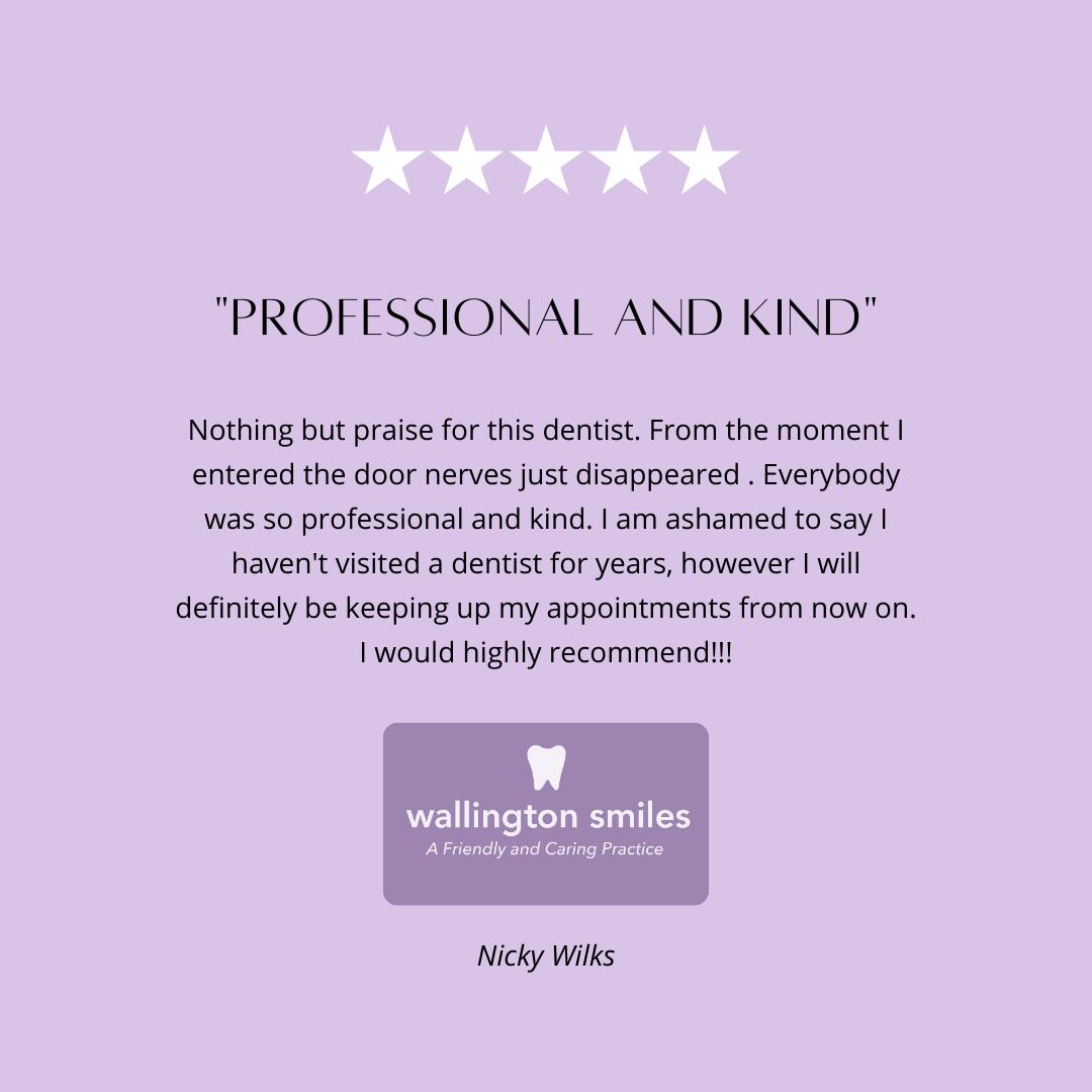 Testimonial - dentists Wallington